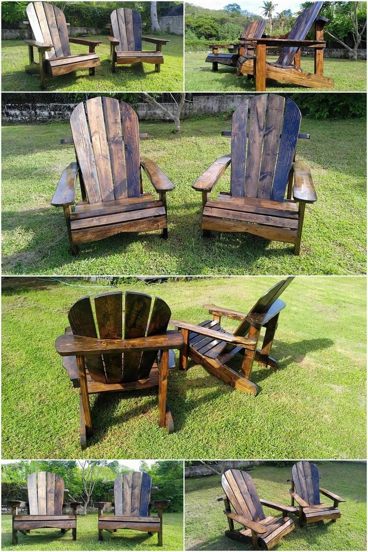 pallet patio adirondack furniture set pallet wood projects
