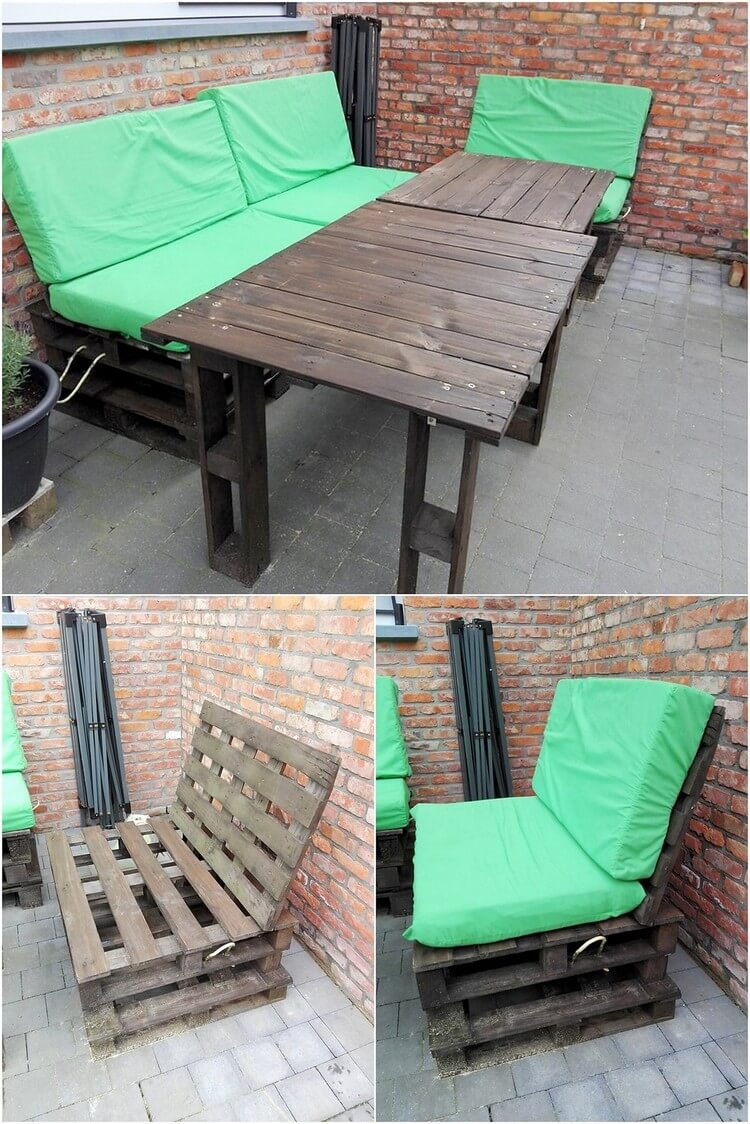 Pallet Patio Couches and Table