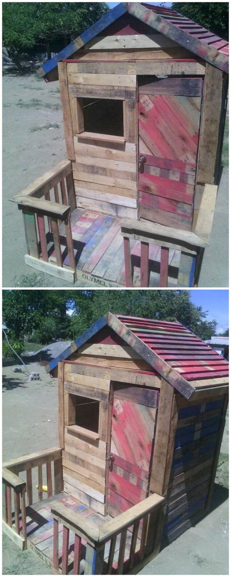 Creative repurposing ideas with used wood pallets pallet for How to build a playhouse out of pallets