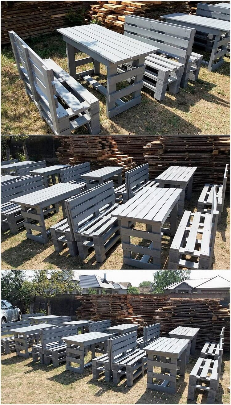 Pallet Restaurant Furniture Sets