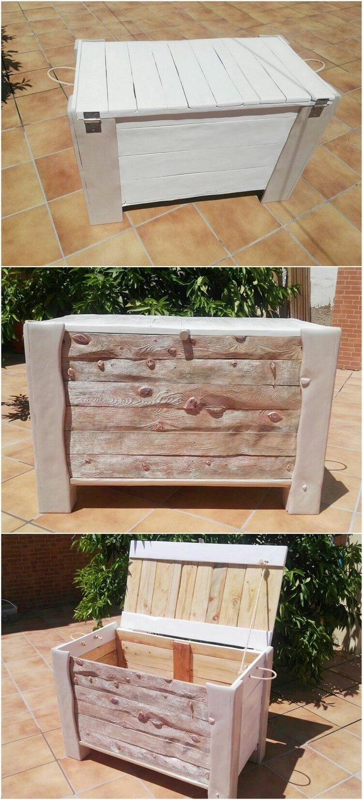 Creative repurposing ideas with used wood pallets pallet for Pallet wood storage box