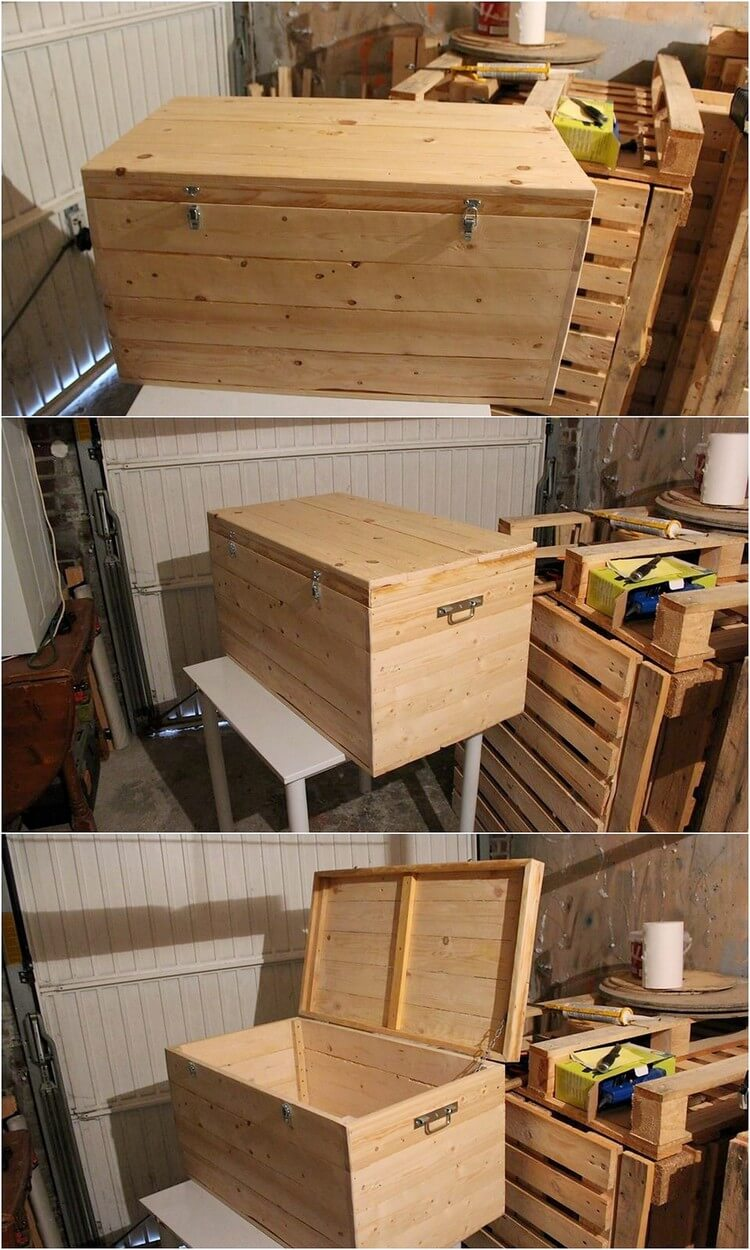 Imaginative ideas with used shipping wood pallets pallet for Storage box made from pallets