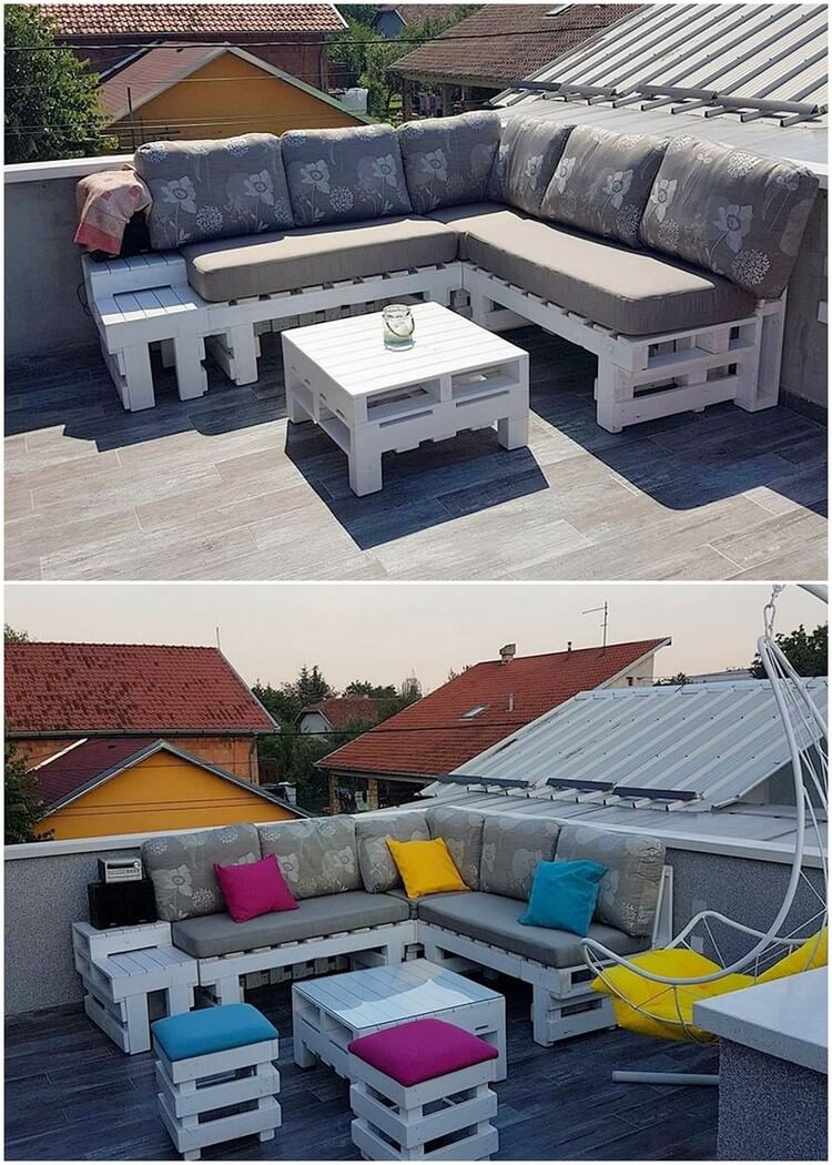 Pallet Terrace Couch and Table