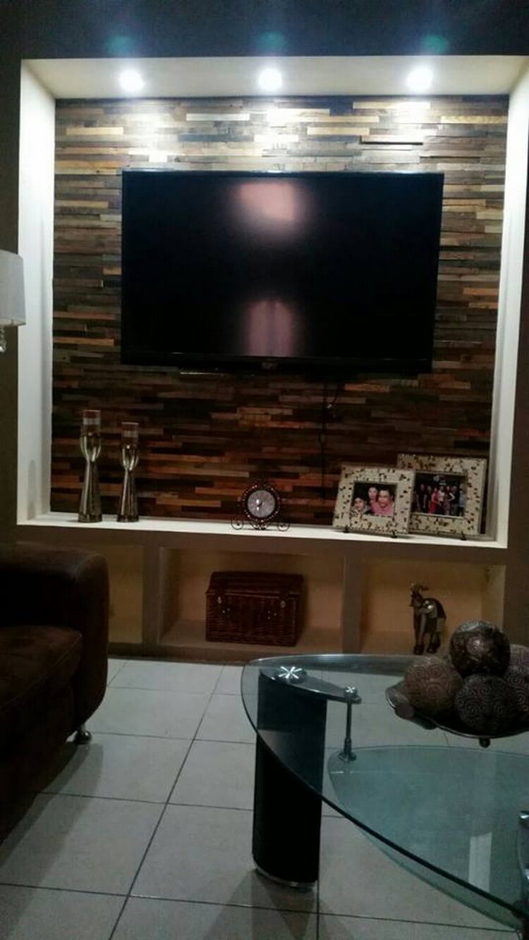 Pallet Wall Paneling LED Holder