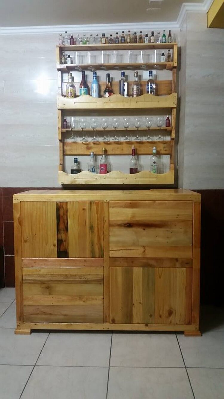 Pallet Wine Rack and Bar Table