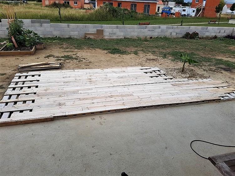 Pallet Wooden Garden Terrace