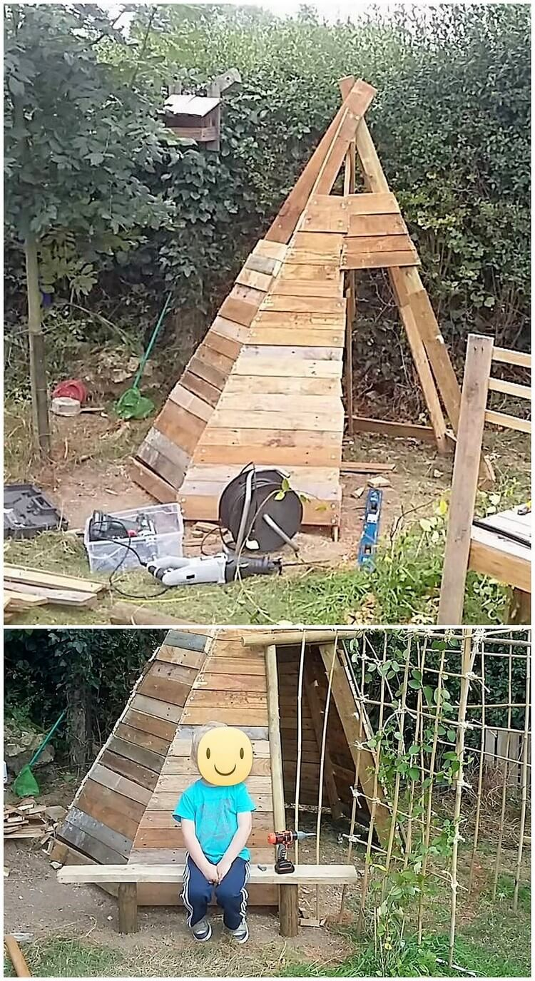 Recycled Pallet Teepee