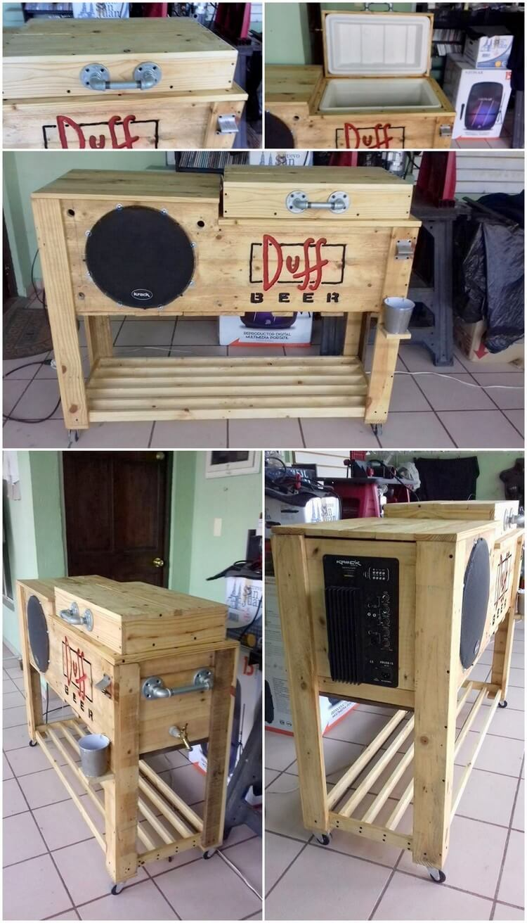Repurposed Wooden Pallet Cooler