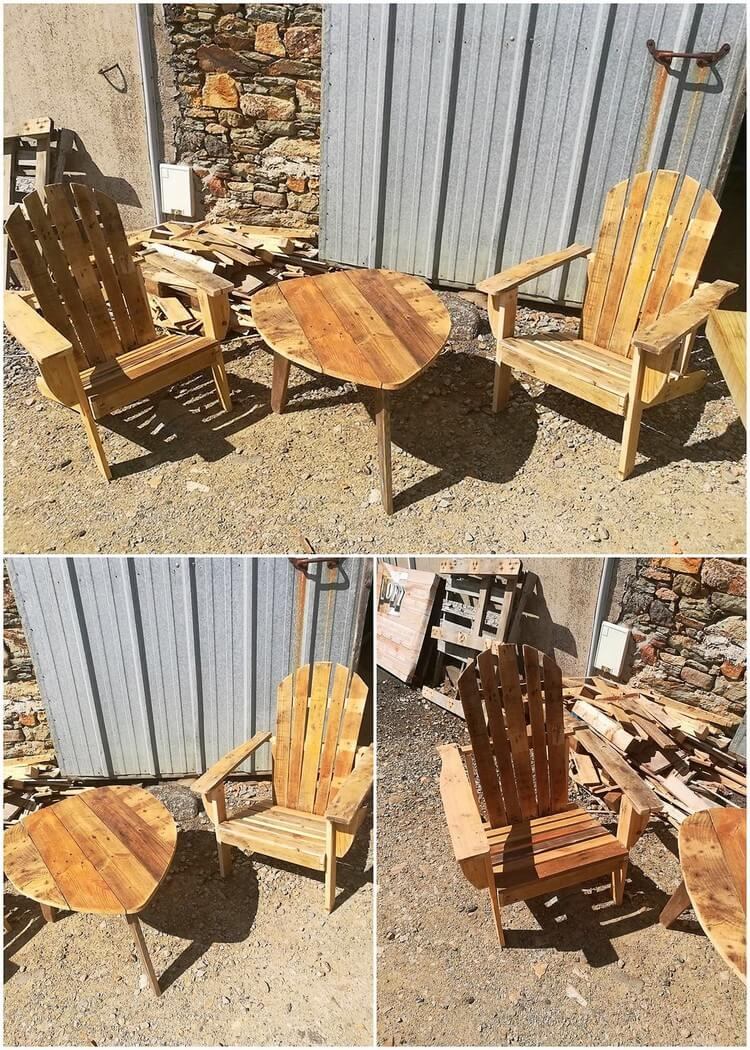 Unique Pallet Chairs and Table
