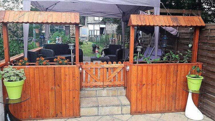 Unique Pallet Planters and Fence Gate