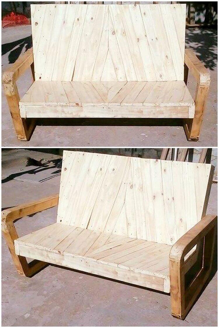 Unique Wood Pallet Bench