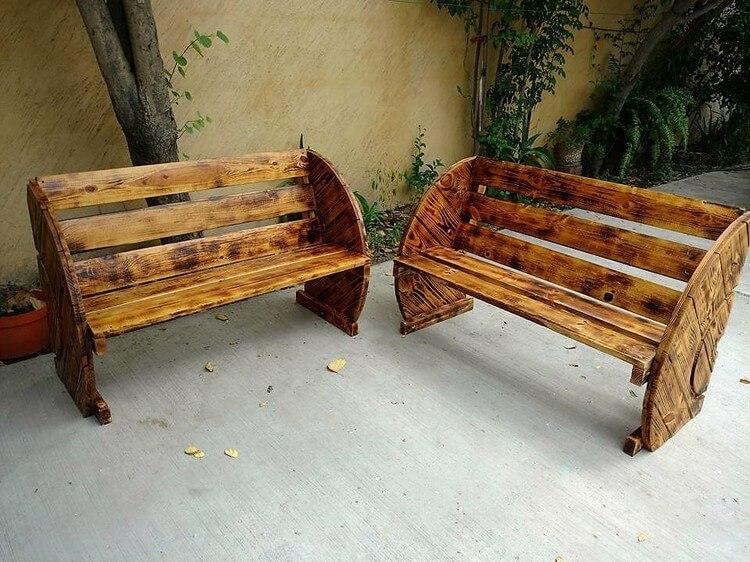 Unique Wood Pallet Benches