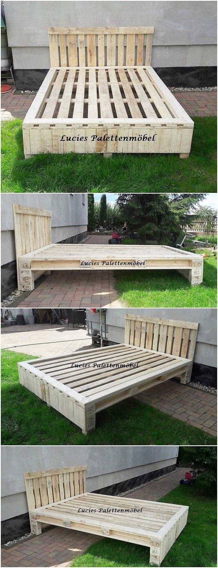 Wood Pallet Bed Frame (2)