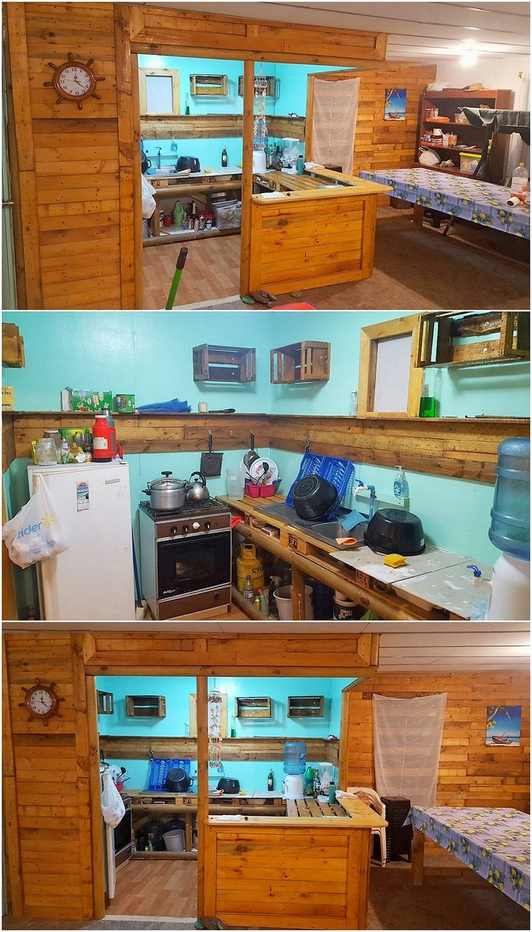 Wood Pallet Kitchen Creation