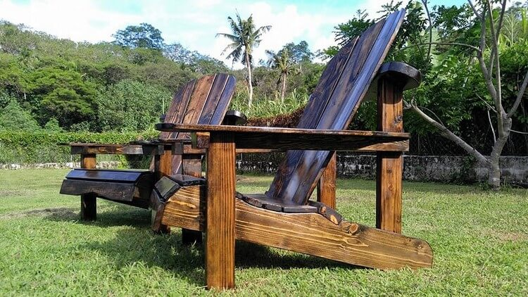 Wood Pallet Patio Adirondack Set