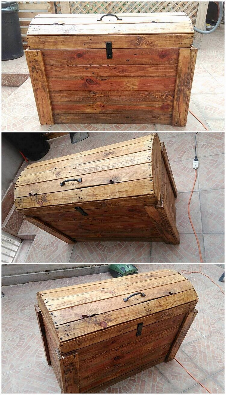 Wood Pallet Storage Box (2)