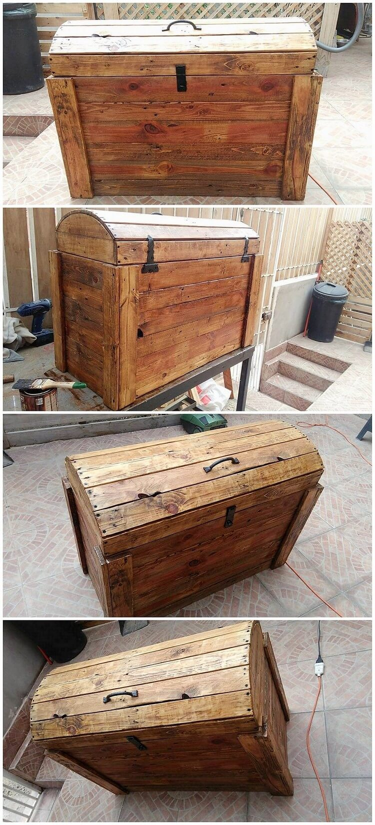 Creative home furnishings with used shipping pallets for Storage box made from pallets