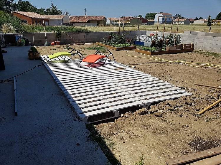Wooden Pallets Garden Terrace Idea