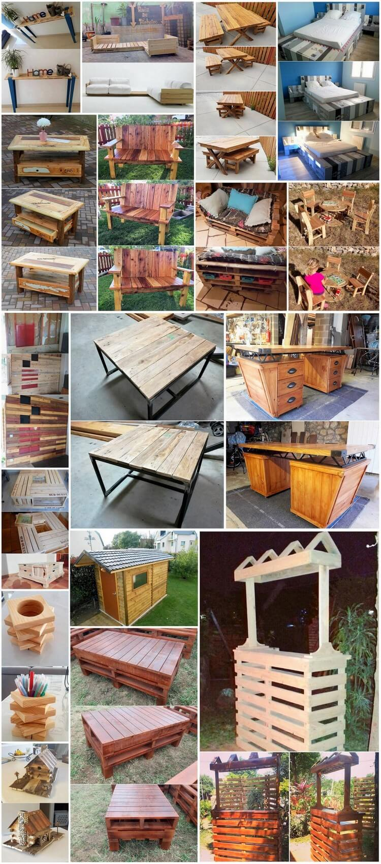 Awesome and easy wood pallet repurposing ideas pallet for Repurposed pallet projects