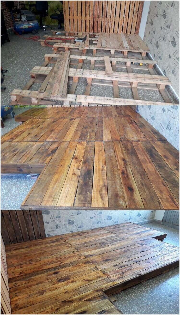 DIY Pallet Flooring (2)