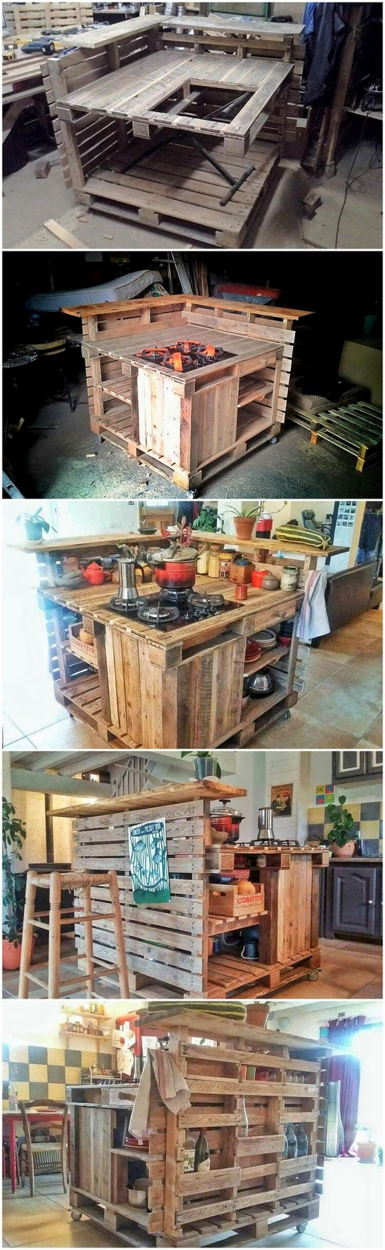 Diy Pallet Kitchen Island Pallet Wood Projects