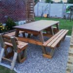 DIY Pallet Table with Benches Plan