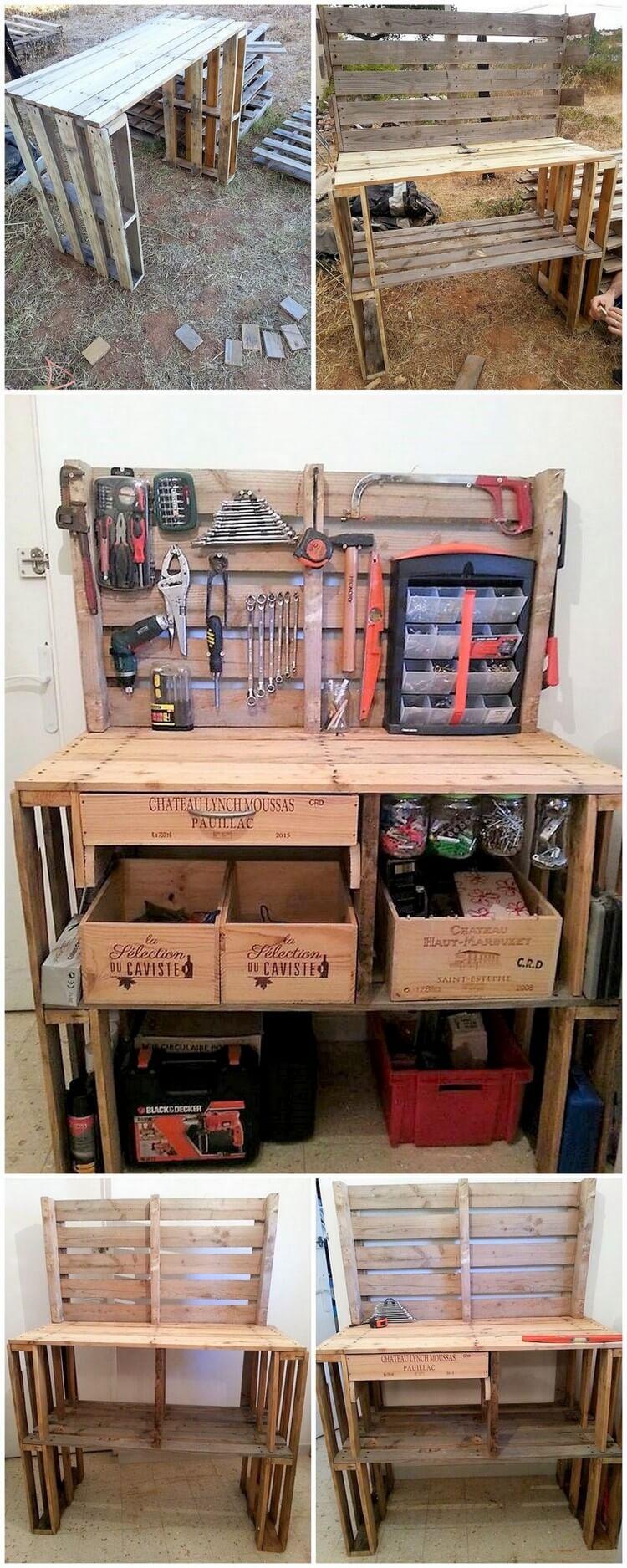 DIY Pallet Tool Rack Plan