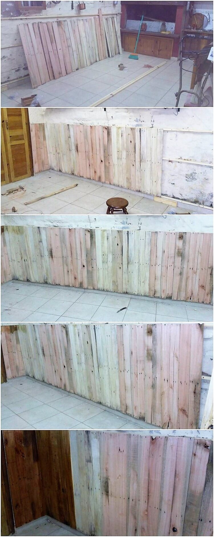 Pallet Wall Paneling : Awesome and unique creations with shipping wood pallets