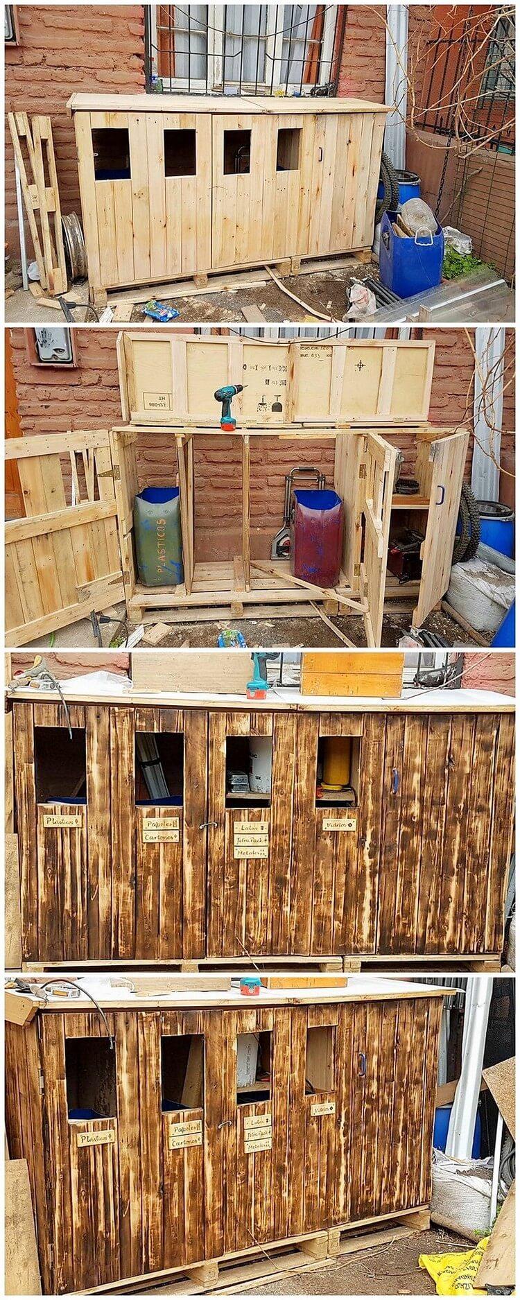 DIY Pallet Wastebin