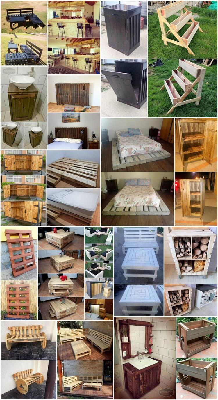 Easy and clever diy projects with used wooden pallets pallet wood projects - Diy projects with wooden palletsideas easy to carry out ...