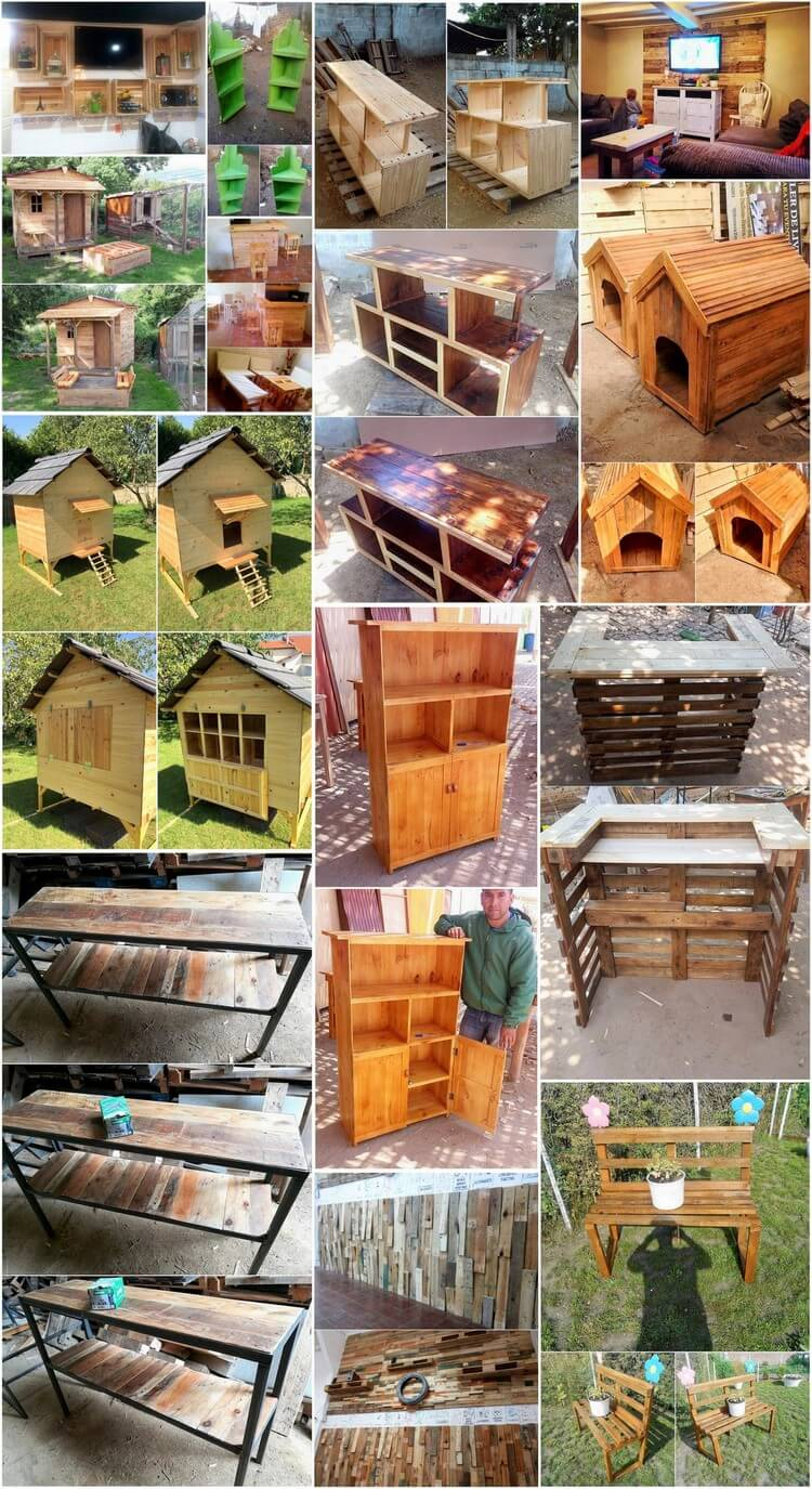 Excellent ideas to repurpose old shipping pallets pallet for Old wood pallets ideas