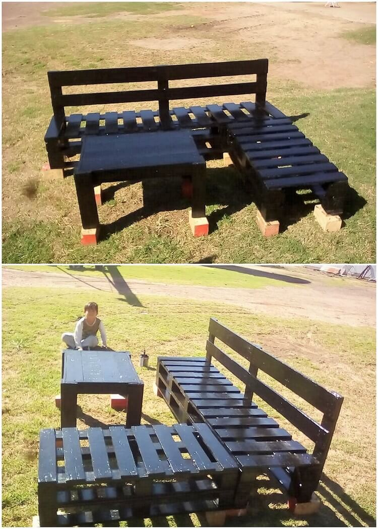 easy and clever diy projects with used wooden pallets. Black Bedroom Furniture Sets. Home Design Ideas