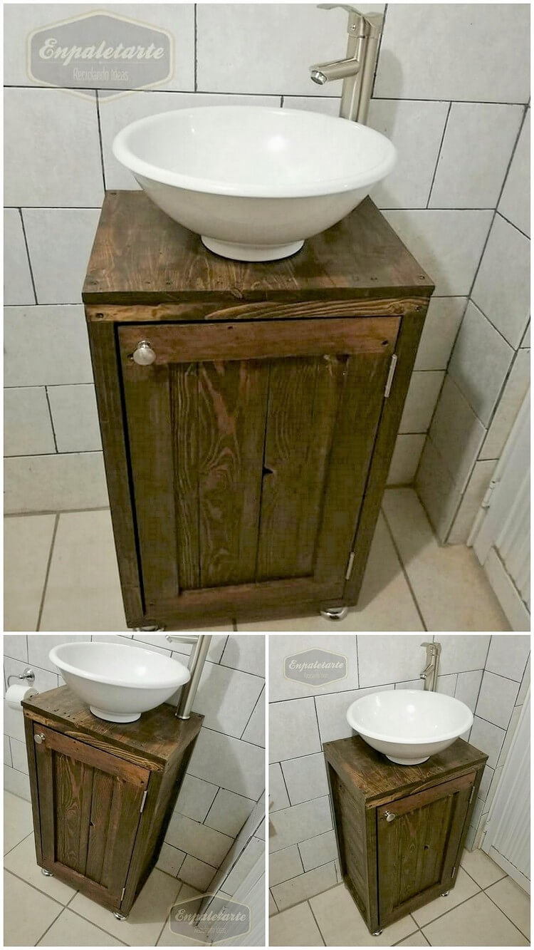 Pallet Bathroom Sink or Cabinet (2)