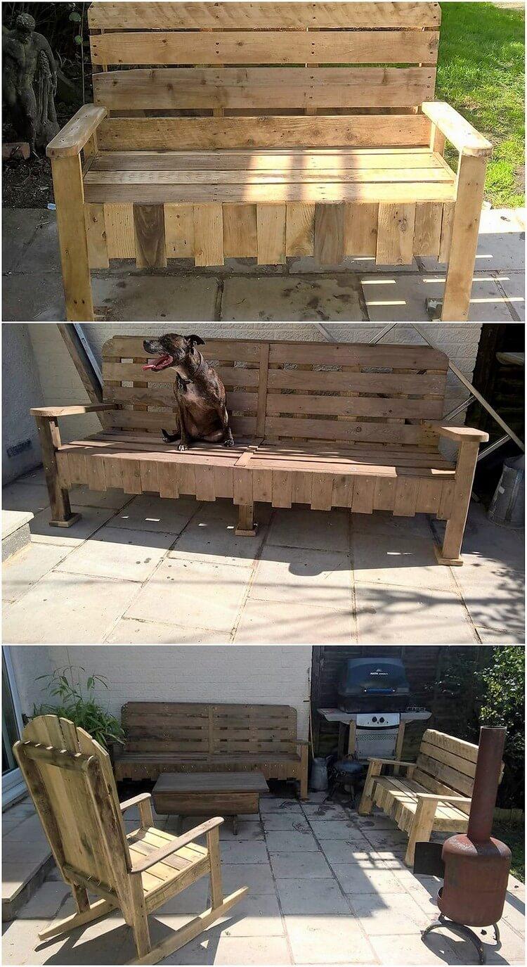 Sensational ideas for reusing old wood pallets pallet for Old wood pallets ideas