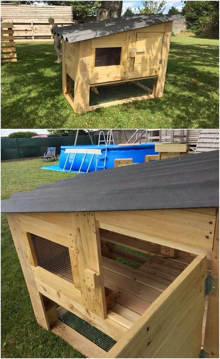 Genius ideas to reuse old shipping wood pallets pallet for Chicken coop from pallet wood