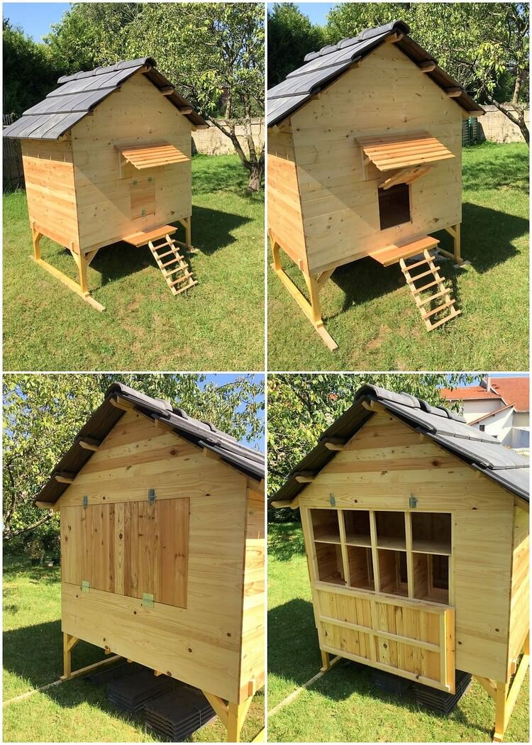 Excellent ideas to repurpose old shipping pallets pallet Chicken coop from pallet wood