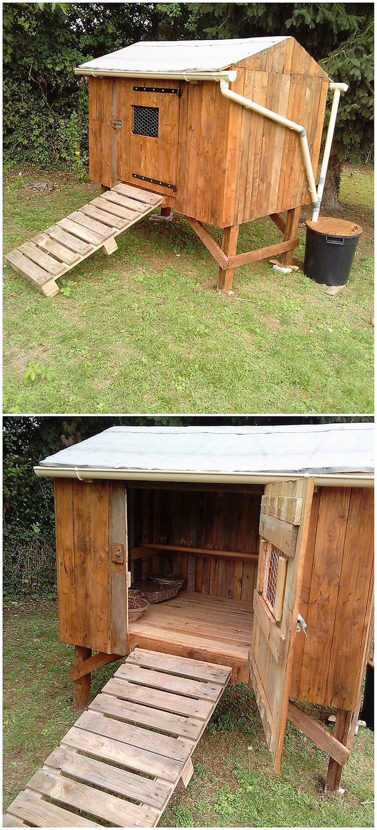 Recreation ideas with old dumped wood pallets pallet Chicken coop from pallet wood