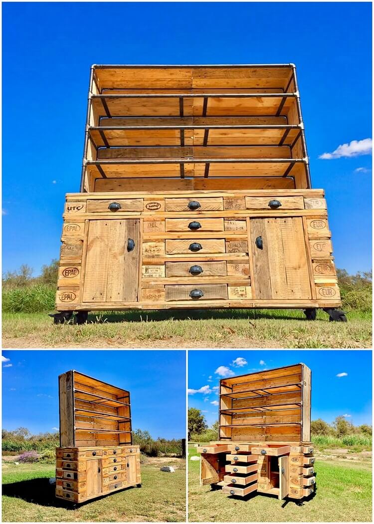 Pallet Cupboard or Chest of Drawers