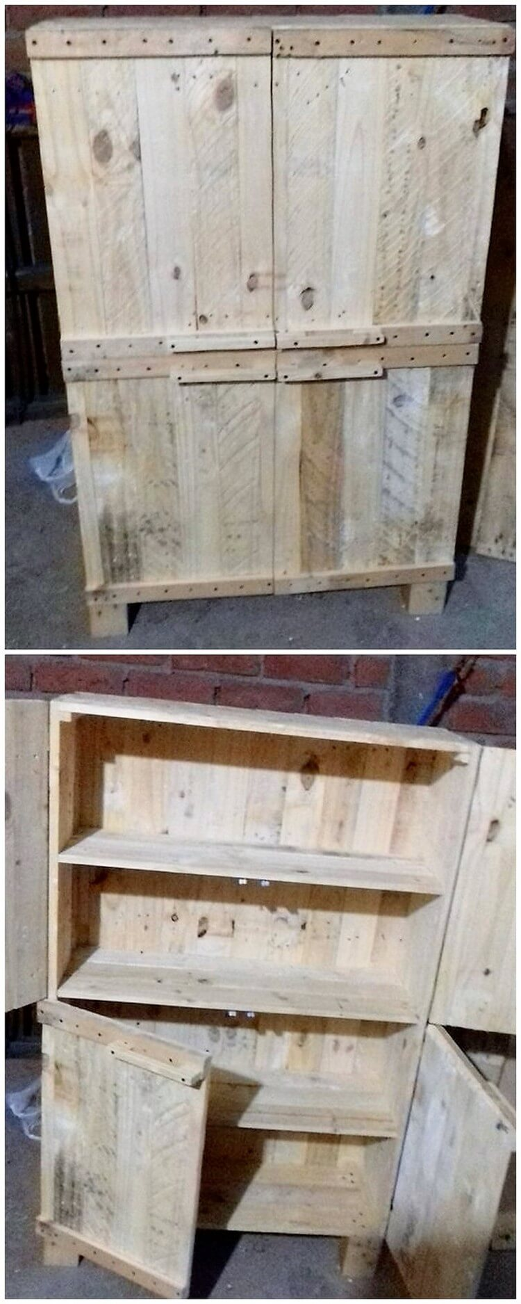 45 creative ideas and ways to reuse old wood pallets for Creative pallet