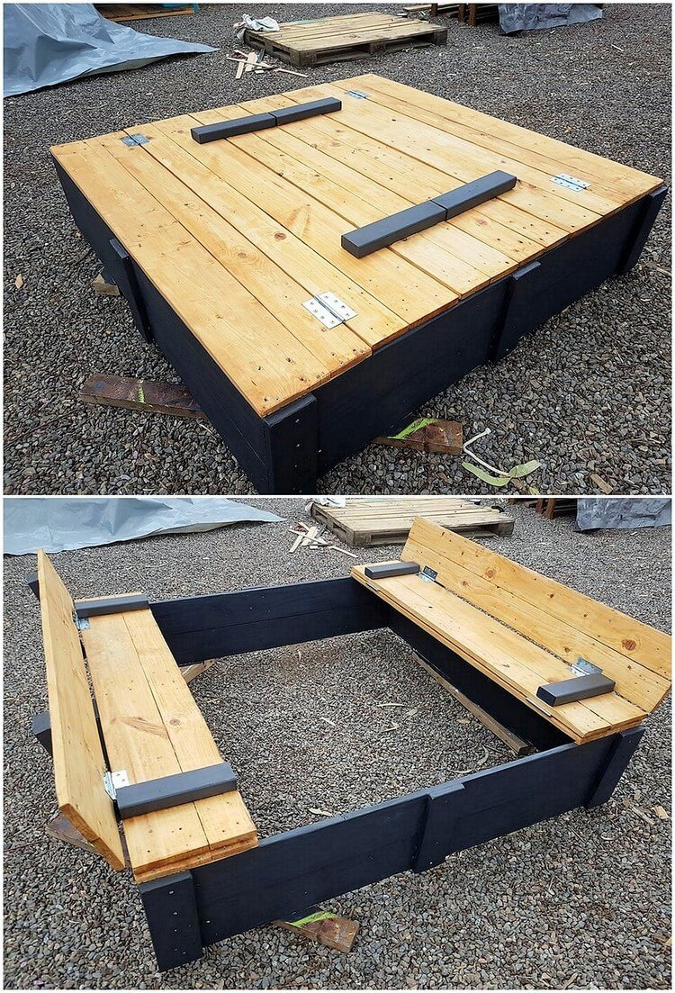 Pallet Folding Benches for Kids