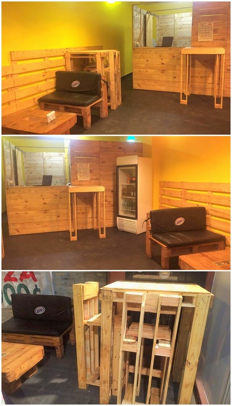 Pallet Furniture at Cafe