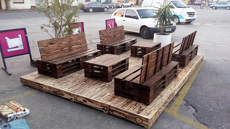 Pallet Furniture with Terrace