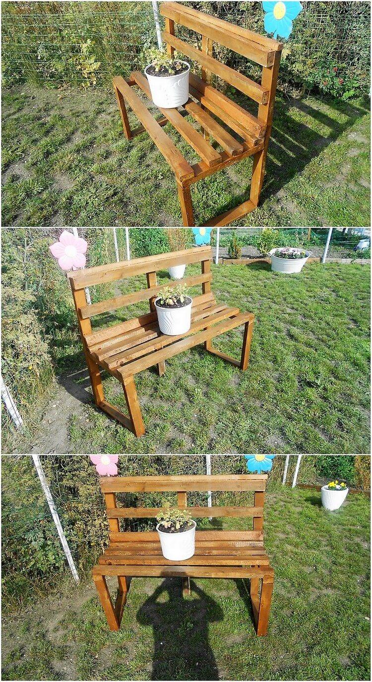 Pallet Garden Bench (2)