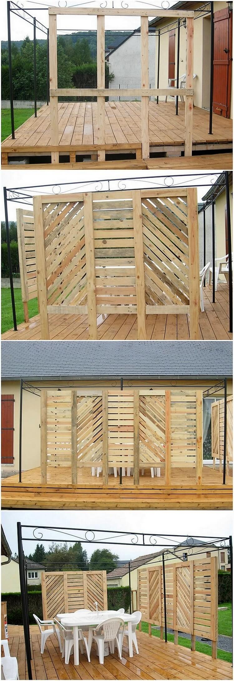 Awesome ideas for repurposing old shipping pallets for Terrace fence