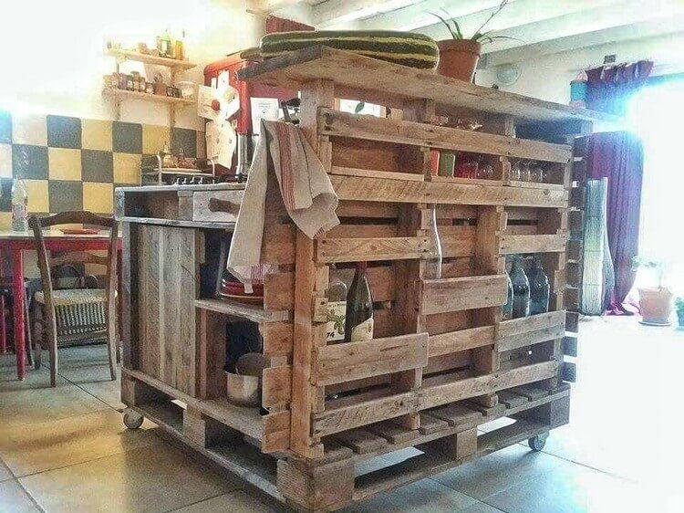 Diy Pallet Kitchen Island Pallet Wood Projects