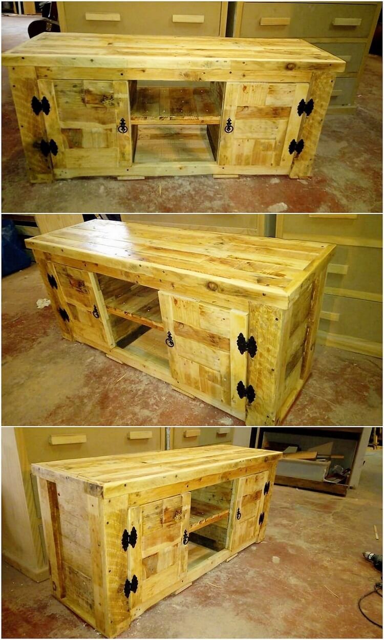 Pallet Media Table or Cabinet (2)