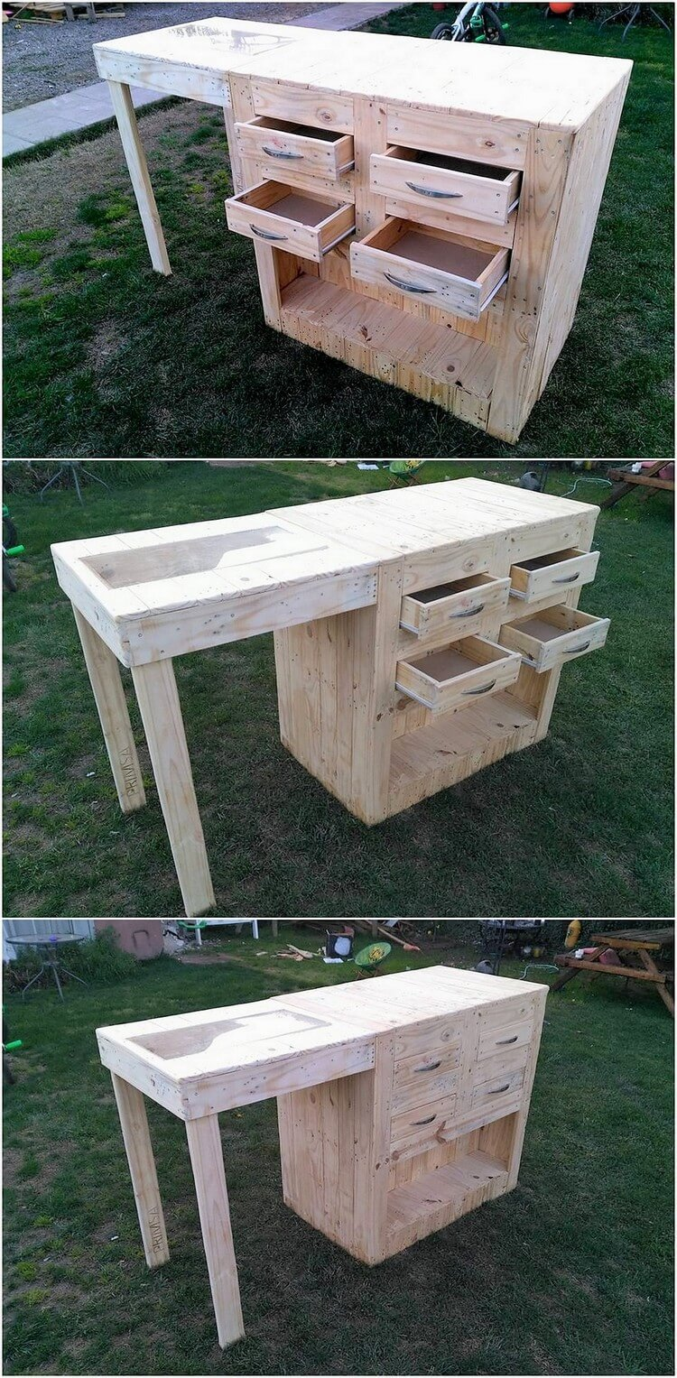 Pallet Office Table