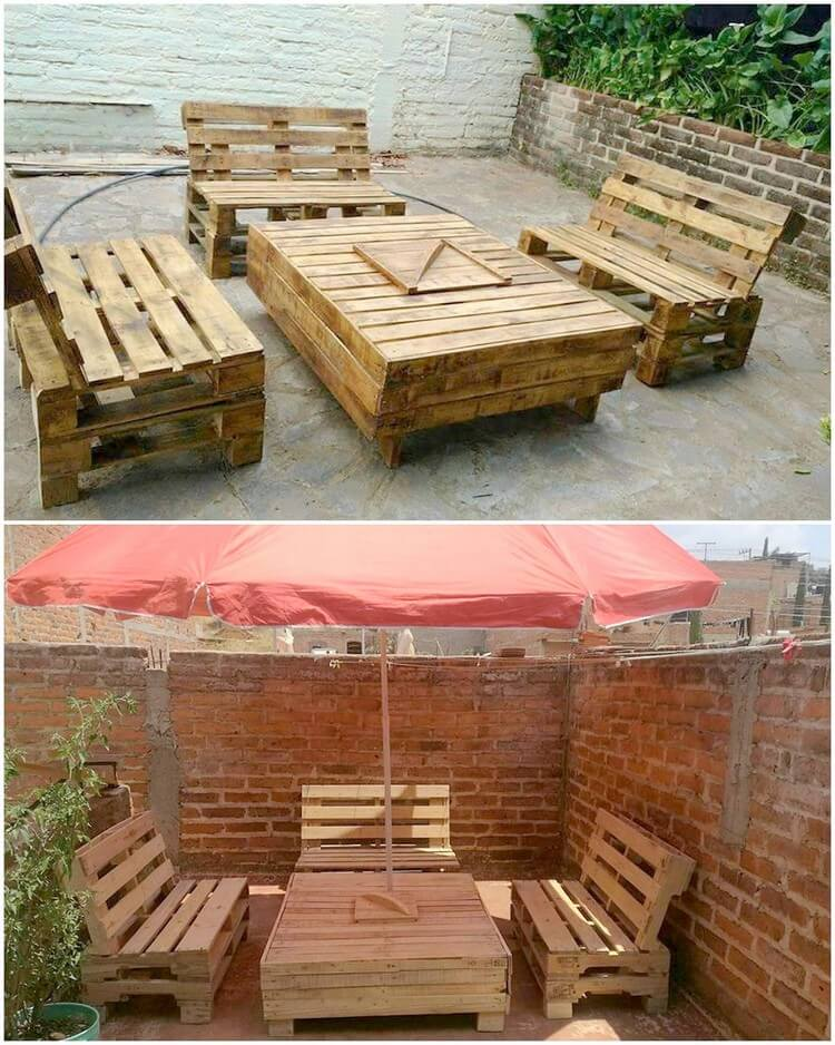 Pallet Outdoor Furniture Set