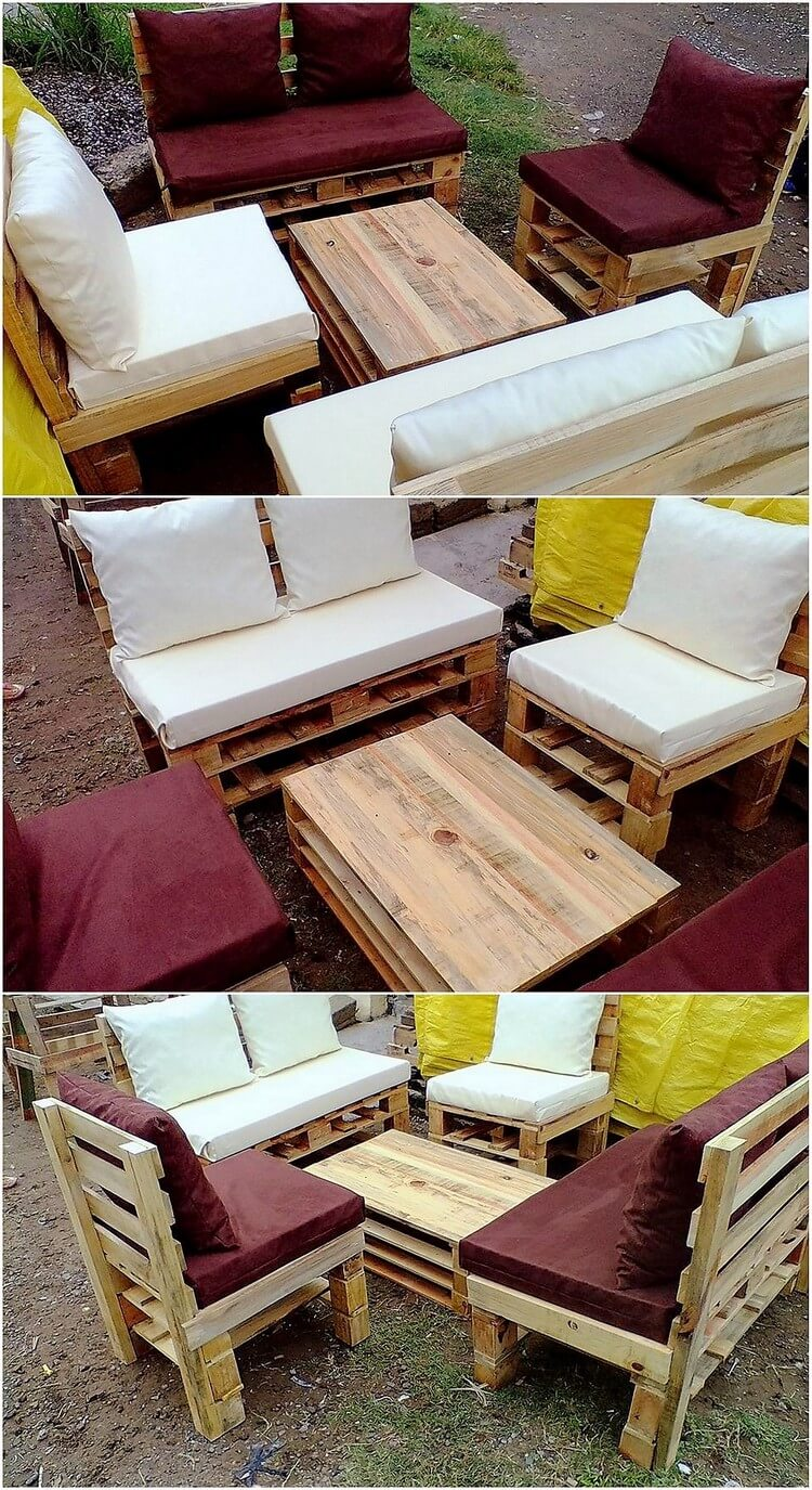 Clever ways to reuse used wooden pallets pallet wood for Wooden pallet garden furniture