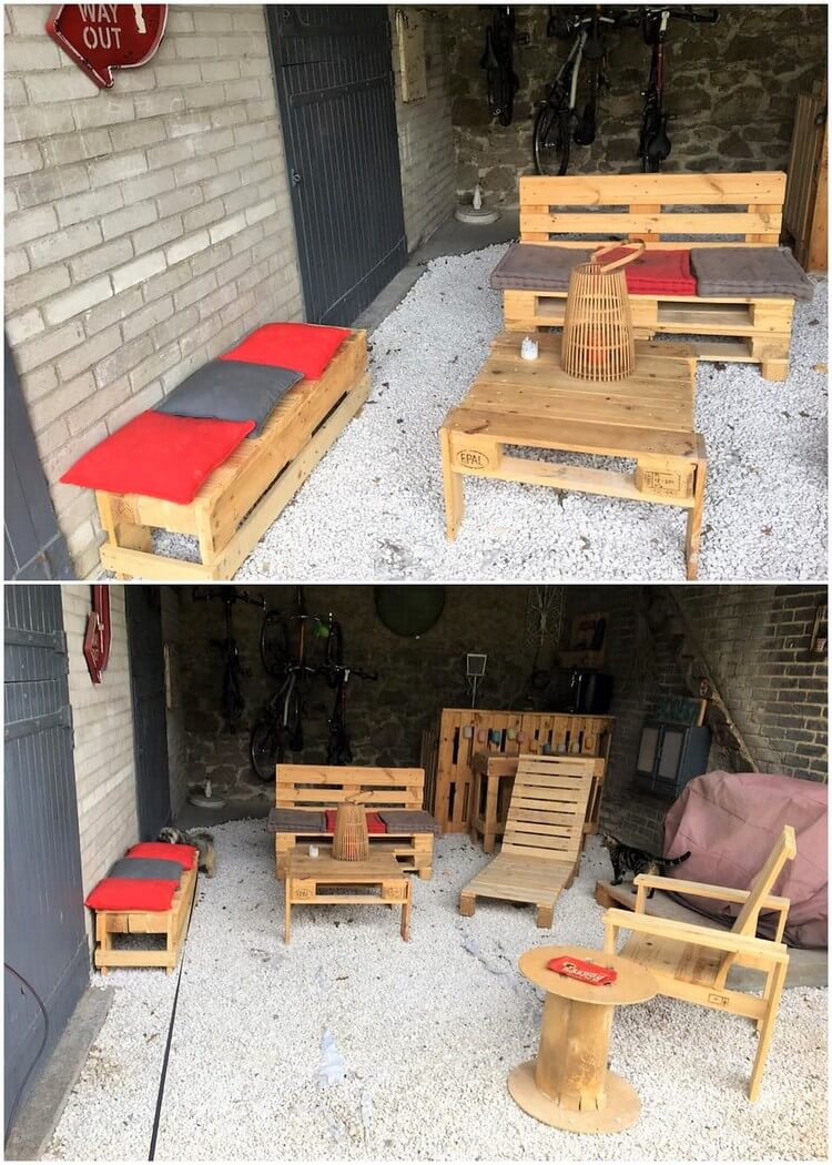 Unique Wood Pallet Creations To Tryout This Weekend Pallet Wood  # Muebles Weekend